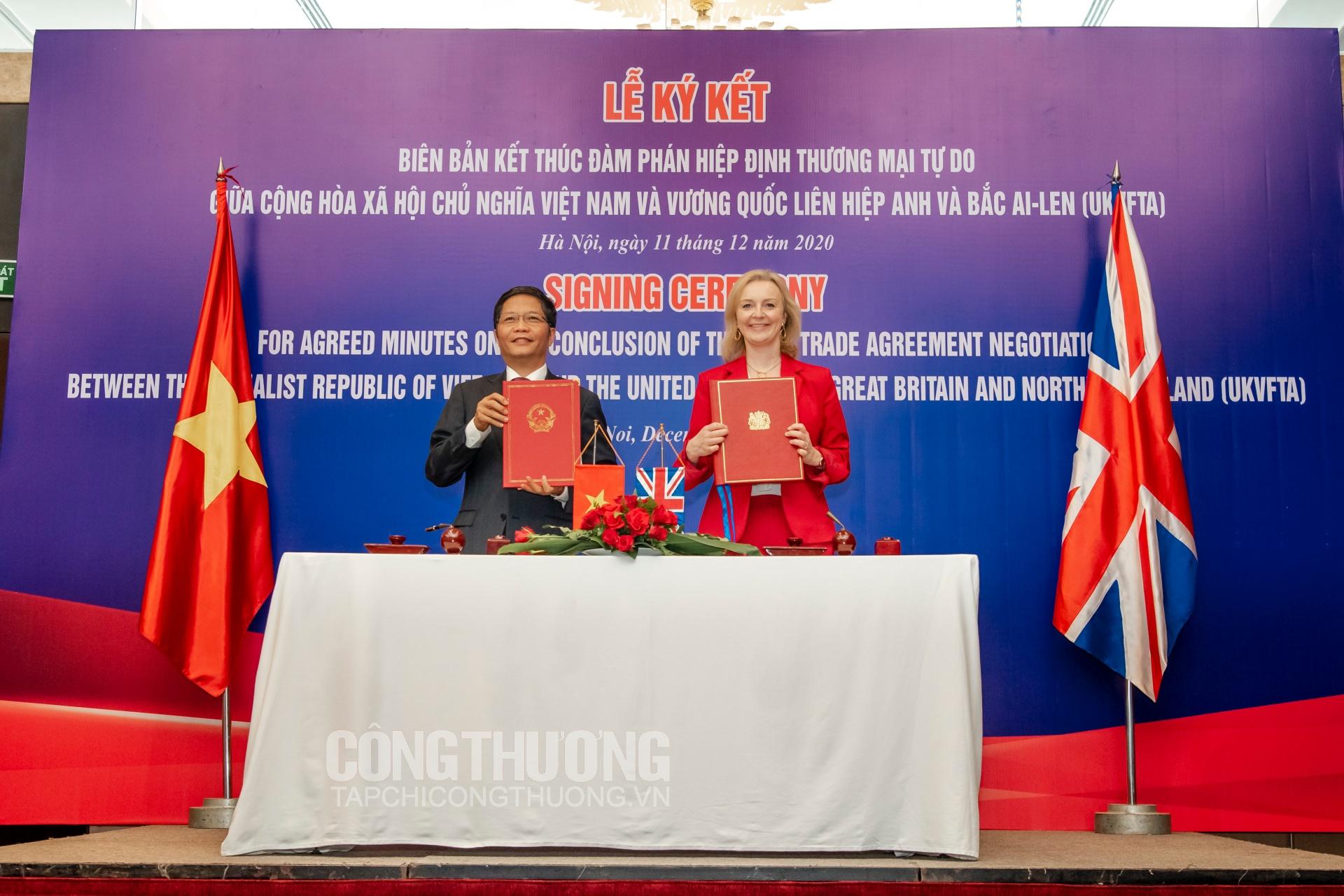 Mới đây nhất, tháng 12/2020, Việt Nam - Vương quốc Anh đã kết thúc đàm phán Hiệp định UKVFTA và sẽ sớm đưa Hiệp định vào thực thi trong tháng 4/2021
