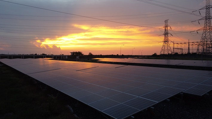 Nguồn năng lượng sạch từ điện mặt trời tại Công ty Nhiệt điện Phú Mỹ